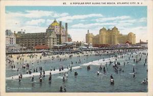 New Jersey Atlantic City A Popular Spot Along The Beach