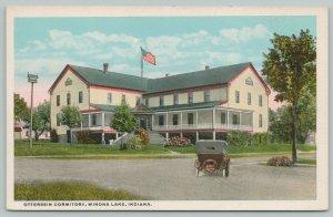 Winona Lake Indiana~Otterbein Dormitory~Birdhouse~Vintage Car~1920s