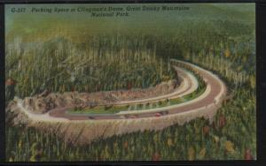 Great Smoky Mountains Nat Park Clingman's Dome Parking  colour PC  unused