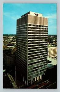 Memphis TN, Bird's Eye, First National Bank Building, Chrome Tennessee Postcard