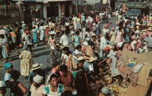 KINGSTON, Jamaica, 1940-60s; Market Scene