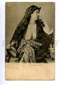 156714 Turkey CONSTANTINOPLE Semi-Nude Belle Woman LONG HAIR