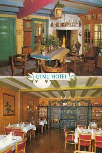 The Utne Hotel Restaurant Area Denmark Postcard