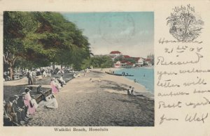 HONOLULU , Hawaii , 1908 ; Waikiki Beach