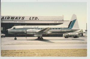 HARRISON AIRWAYS AIRLINES airplane prop Postcard martin 404