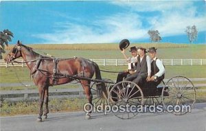 Traditional Dress Amish Courting Buggy Unused indentation in card