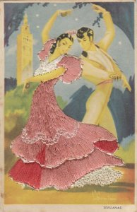 MADRID, Spain, 1930-40s; Dancers, Female in embroidered dress
