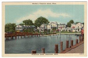 Martha's Vineyard Island, Mass, Waterfront Scene, Edgartown, Mass