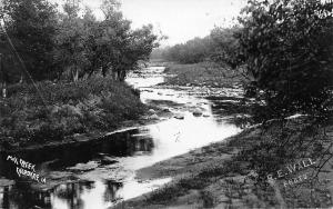 Cherokee Iowa~Pine Creek~Real Photo Postcard~R E Well RPPC c1910