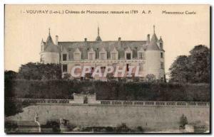 Old Postcard Vouvray Chateau de Montcontour restores maontcontour Castle