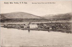 Forty Mile Town Yukon River Unused for Smith Books Dawson YT Postcard G21