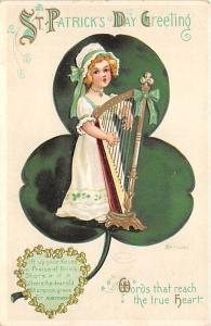 Saint Patrick's Day, Ellen H Clapsaddle, Series 4153 Holiday Writing on back