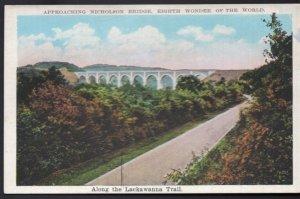 Pennsylvania Lackawanna Trail Approaching Nicholson Bridge - White Border