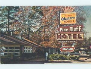 Pre-1980 MOTEL SCENE Pine Bluff - Near Little Rock Arkansas AR G7636