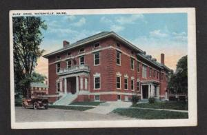 ME View of Elk's Home Club WATERVILLE MAINE Postcard
