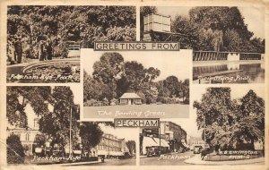 Vintage 1965 Multi View London Postcard, Greetings from PECKHAM AZ1