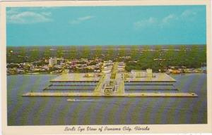 Florida Panama City Birds Eye View Showing New Marina and Auditorium 1963