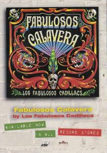 Advertising Music Fabulosos Calavera Latin Records 1997