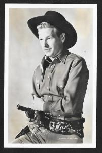 ARCADE CARD Cowboy Entertainer Rex Allan