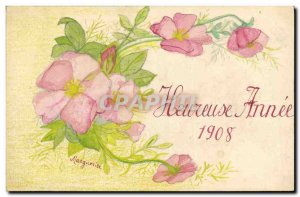 Old Postcard Fancy (drawing hand) Flowers