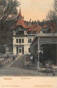 KARLSBAD Cafe Kaiserpark Czech Republic c1910s Vintage Postcard