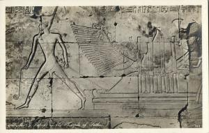 egypt, ABYDOS, Reliefs of the Temple of Sethos (1930s) Lehnert & Landrock RPPC