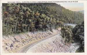 Curving Along A Mountain Shelf Overhanging Cold River Mohawk Trail Massachusetts