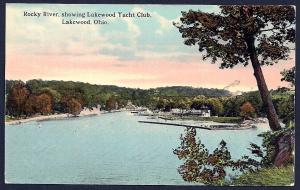 Lakewood Yacht Club Rocky River Cleveland Ohio unused c1910