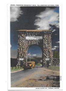 Theodore Roosevelt Arch Gardiner Montana Haynes Yellowstone National Park