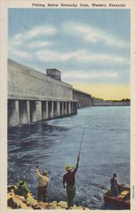 Fishing Below Kentucky Dam Western Kentucky Curteich
