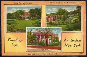 New York ~ MultiView Greetings from AMSTERDAM - LINEN