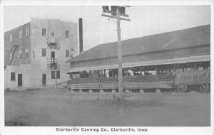 Clarksville Iowa~Canning Company~Nice Power Pole~B&W 1920s