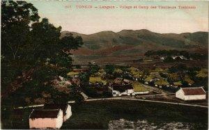 CPA AK INDOCHINA Tonkin Village et Camp des Tirailleurs T. VIETNAM (956572)