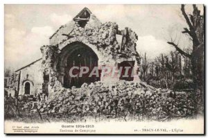 Around Compiegne Old Postcard Tracy Val l & # 39eglise