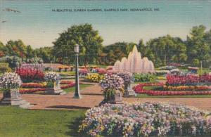 Indiana Indianapolis Beautiful Sunken Gardens Garfield Park