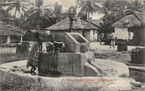 German East Africa Deutsch-Ost-Afrika, Tanzania Bagamoyo, Am Brunnen, Postcard