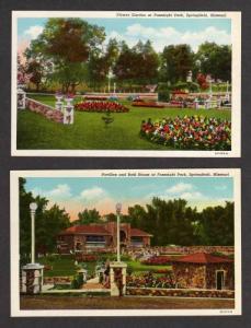 MO Lot 2 Fassnight Park Postcards SPRINGFIELD MISSOURI