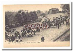 Coutances Old Postcard The Walking Road (sheep) TOP