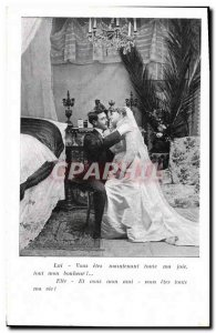 Old Postcard Fantasy Woman Marriage