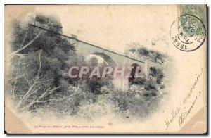 Old Postcard Pons near the Devil Nans sous Ste Anne