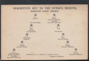 Middlesex Postcard - Hampton Court Palace, Descriptive Key To The Kynge's RS8551