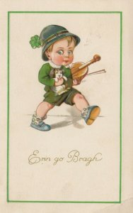 ST. PATRICK'S DAY : Boy with Violin , 1908