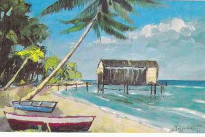 AS: BARBADOS, West Indies, 1975; Laurent Brunet, Beach View, Sunset Crest