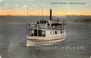 Steamer Newport Newport, Oregon USA Ship Postcard Post Card Newport, Oregon U...