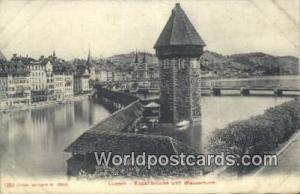 Luzern Swizerland, Schweiz, Svizzera, Suisse Kapellbrucke und Wasserturm  Kap...