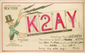 RARE Radio QSL RP New York George J. Cook american magicians society member 1949
