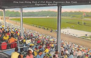 Hagerstown, Maryland, USA,  Race Track, Horse Racing, Trotters, Postcard Unused