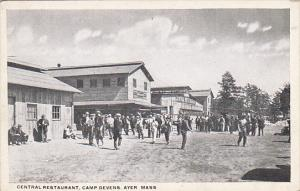 Military Drafted Men At Central Restaurant Camp Devens Ayer Massachusetts