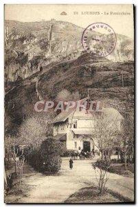 Old Postcard Lourdes Funicular