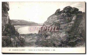 Old Postcard Perros Guirec Trail Pointe du Chateau